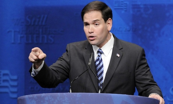 Rubio addresses the American Conservative Union's annual Conservative Political Action Conference (CPAC) in Washington